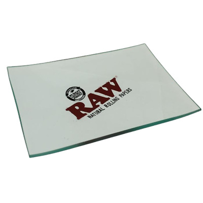 Raw Glass  Double Thick Mini Rolling Tray