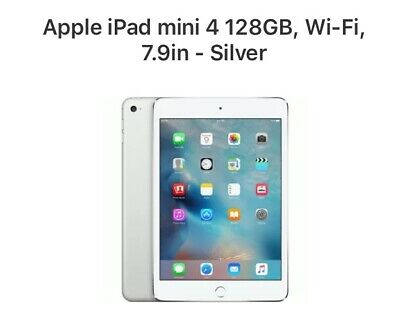 Apple iPad mini 4 128GB, Wi-Fi, 7.9in - Silver.     BRAND NEW. STILL IN PLASTIC