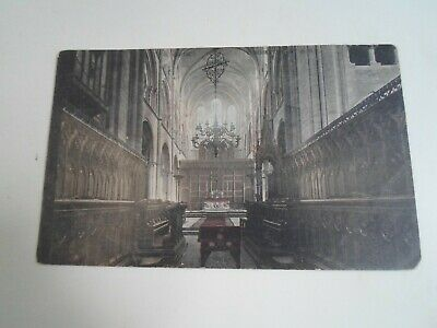 CHOIR, CHICHESTER CATHEDRAL Vintage Postcard  §E2604