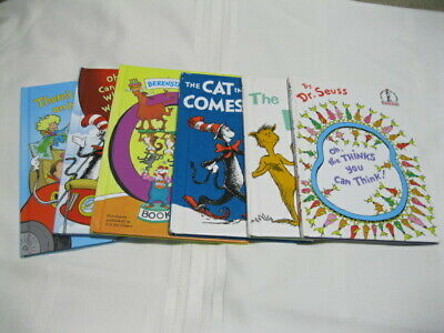 Lot of 6 Dr. Seuss Series Children Books Cat in the Hat Foot Map Weather Think C