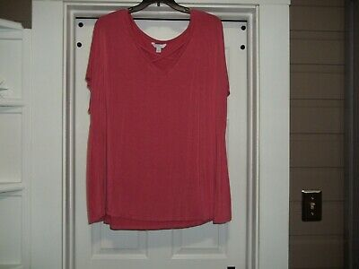 Ladies Plus Size Tunic 3X Super Stretchy Oversized Pink Boutique