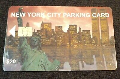 New York City Parking Card Skyline Twin Towers no value