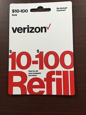 $75 Verizon Wireless Prepaid Refill Card