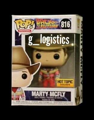 Funko Pop Back To The Future: Cowboy Marty Mcfly #816. Hot Topic Exclusive..