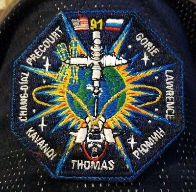 NASA Space Shuttle Mission STS-91 Discovery embroidered patch Precourt Thomas