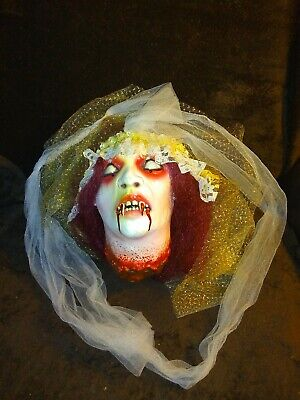 Halloween Life Size Prop BRIDE Severed Head Decoration DECOR LATEX REALISTIC!
