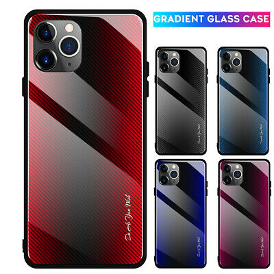 Luxury Tempered Glass Case Cover For iPhone 11 Pro X XS XR Max Hybrid Armor Case