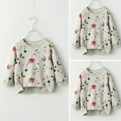 Girl Sweatshirt Floral Trousers Kids Autumn Long Sleeve Casual Pullover Clothes