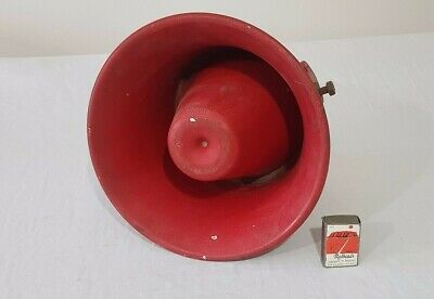 Large Red Vintage Fire Alarm Siren ( Untested )