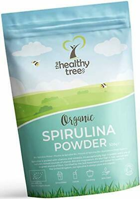 Organic Spirulina Powder - High in Amino Acids, Chlorophyll, Protein and Calcium