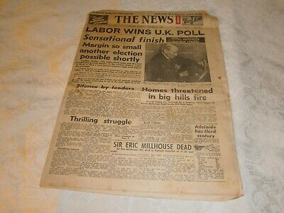 VINTAGE FULL NEWSPAPER THE NEWS SATURDAY 25 FEBRUARY 1950 - ADELAIDE SA- COST 2d