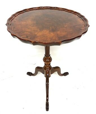 Antique Reprodux Style Mahogany Wine / Occasional Table / Lamp Stand (a85)