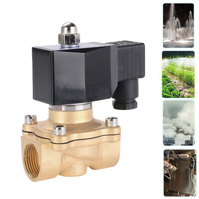 ELECTRIC SOLENOID VALVE AIR WATER GAS OIL BRASS NORMALLY CLOSED 2 Way N/C BSP