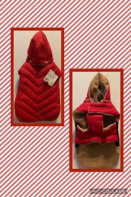 Good2Go Quilted Parka Dog Hooded Jacket Coat Water Resistant Red NWT Small