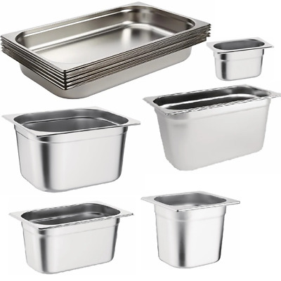 Stainless Steel 1/1 Size Gastronorm Pan Full Size Bain Marie Pot Container Lid