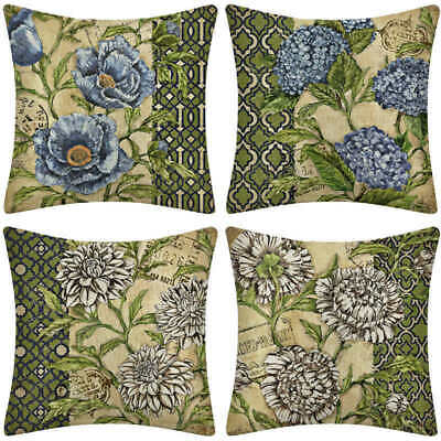 Ancient 18'' Flower Decor Pillowcases Couch Throw Sofa Car Pillow Office Nap New