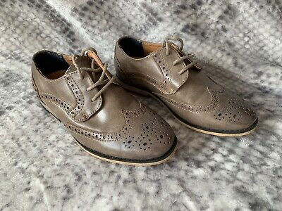 River Island Boys Brogue Light Brown Shoes Size UK 12 Kids