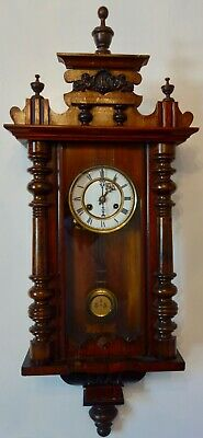 Large Antique Vienna Wall Clock - Running