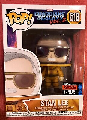 Funko Pop! STAN LEE Marvel #519 Guardians Galaxy V.2 2019 NYCC Shared Exclusive