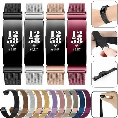 For Fitbit Inspire HR Milanese Stainless Steel Strap Magnetic Watch Band