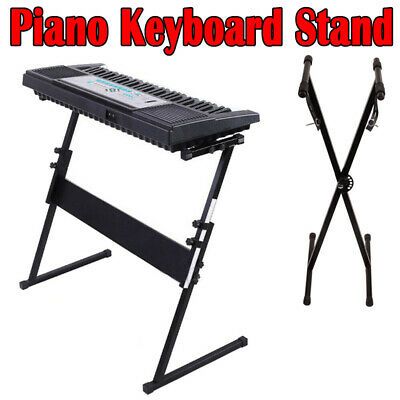 X/Z Shape Stand Music Electronic Piano Keyboard Rack Holder Adjustable Height UK