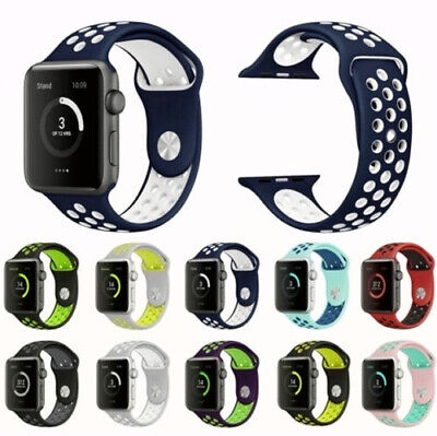 For Apple Watch iWatch Series 5 4 3 38/42/44mm Soft Silicone Sport Strap Band L