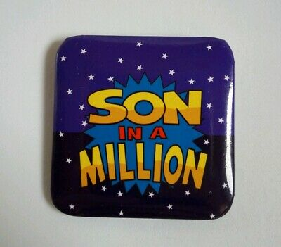 Large Square Son In A Million Badge/ Brooch
