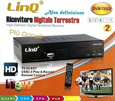 Linq DVB-T222 Decoder Digitale Terrestre Full Hd Dvb-T2 - Hdmi - Usb 2.0