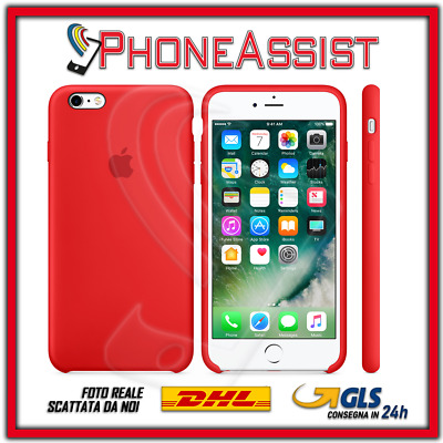 CUSTODIA COVER IN SILICONE per APPLE iPhone 6s Plus ORIGINALE Rosso (Red)