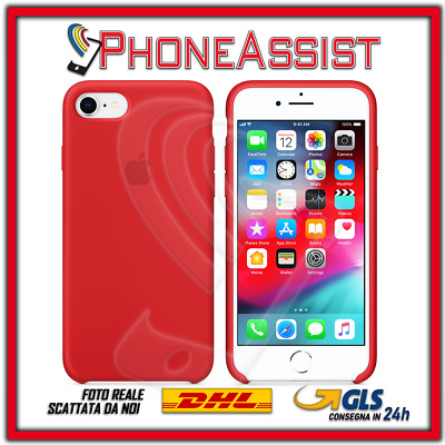 CUSTODIA COVER IN SILICONE per APPLE iPhone 7 ORIGINALE Rosso (Red)