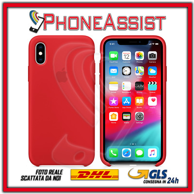 CUSTODIA COVER IN SILICONE per APPLE iPhone Xs Max ORIGINALE Rosso (Red)