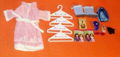 American Girl Doll Lot Shoes Accessories Hangers Bathrobe Books