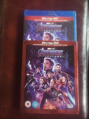 Avengers ENDGAME (2019) 3D + 2D Blu-Ray with slipcover BRAND NEW - In Stock Now