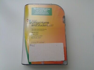Microsoft Office Home and Student 2007 Genuine Factory original