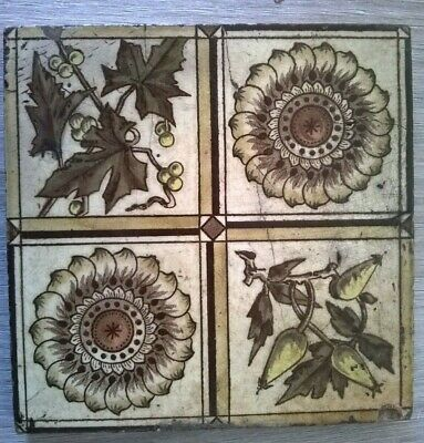 Victorian Art's And Craft's Tile Circa 1890