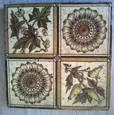 Victorian Art's And Craft's Tile Circa 1890.