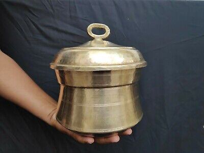 Old Primitive Brass Handmade Rare Small Idli Maker Pot Steamer