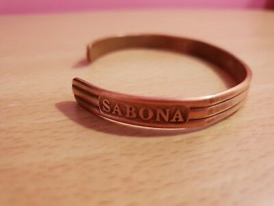 Sabona copper magnetic bracelet, made in Ireland Reg.No. 800834.