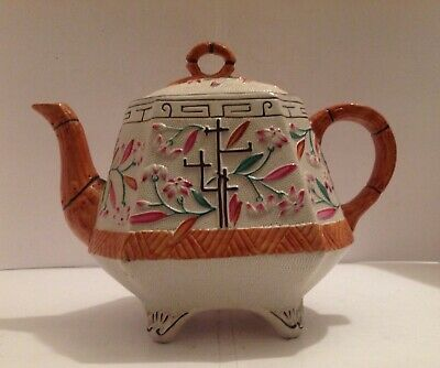 Victorian Aesthetic Movement Pottery Teapot, Probably By Brownhills Pottery Co