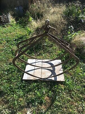 Antique Cast Iron Hay Grapple Myers Claw Hooks Trolley