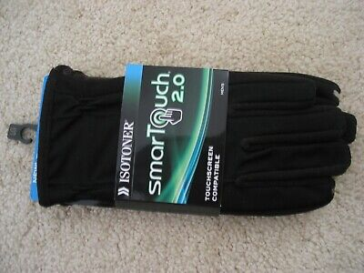 NWT Isotoner smarTouch 2.0 touchscreen compatible gloves Men size Large Black
