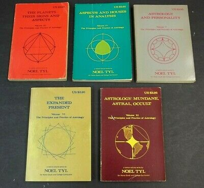 Noel Tyle Astrology Astral Occult Signs Study Series 5 Lot Vol 3 4 5 6 11