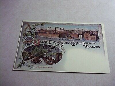 Reproduction Picture POSTCARD SCHLITZ BREWERY Milwaukee Wisconsin Wi BEER