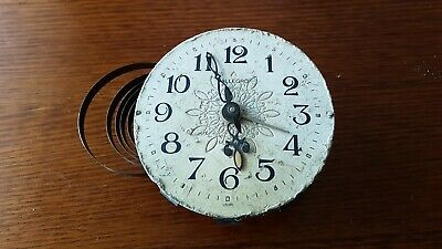 Vintage Allegro Clock Movement Face Hands for parta repairs