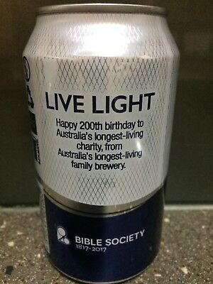 1 X 375ml Coopers Light - Bible Society Beer Can