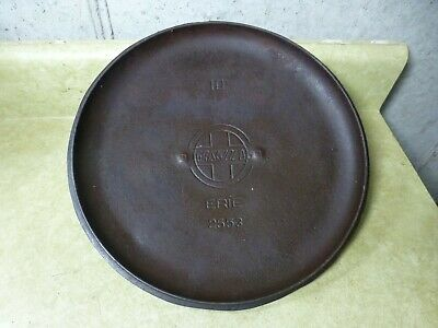 Antique Griswold 2553 Cast Iron Lid for # 10 Dutch Oven  - Lid Only