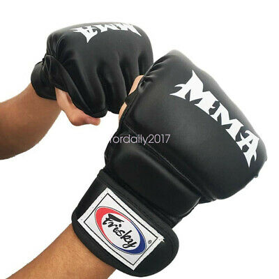 Sport UFC MMA Boxing Gloves Punching Bag Training Muay Thai Fight Sweat Mitts