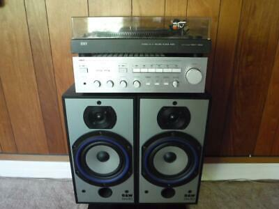 Vintage Stereo System Turntable Amplifier Speakers 4 Channel Record Player