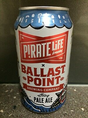 1 X 375ml Pirate Life - Ballast Point Pale Ale Craft Beer Can - Painted