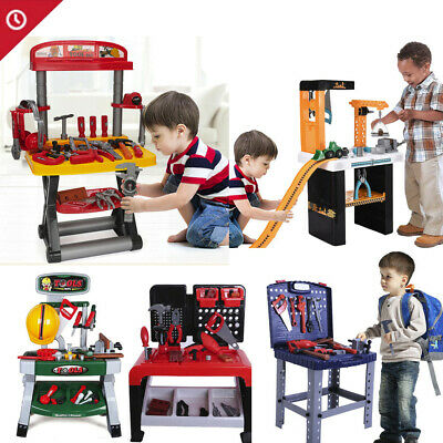 Toddler Boy Toy Tool Set Box Workbench Pretend Play Girl Kid Drill Learning Sets